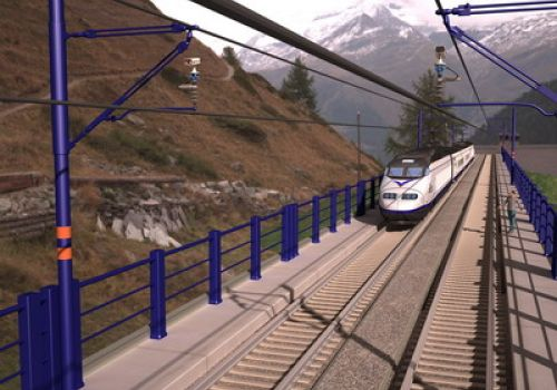 Video warning and detection system for electric trains